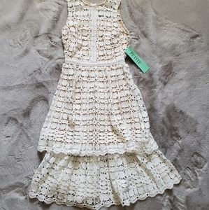 NWT Ryan Michelle Tiered Lace Tank Dress